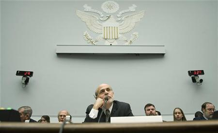 U.S. Federal Reserve Chairman Ben Bernanke testifies about monetary policy before the House Financial Services on Capitol Hill in Washington, February 29, 2012. REUTERS/Jonathan Ernst