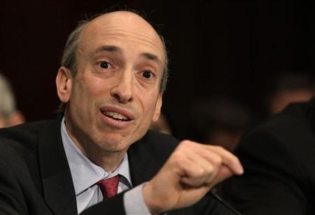 Chairman of the Commodity Futures Trading Commission Gary Gensler testifies before the Senate Banking, Housing and Urban Affairs committee hearing on Continued Oversight on the Implementation of the Wall Street Reform Act on Capitol Hill in Washington December 6, 2011. REUTERS/Yuri Gripas