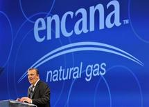 Randy Eresman, president and CEO of Encana, addresses shareholders at the company's annual general meeting in Calgary, Alberta, April 20, 2011. REUTERS/Todd Korol