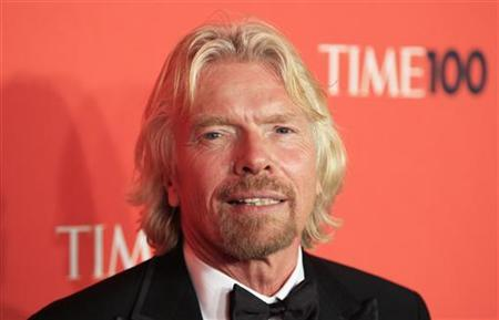 Entrepreneur Richard Branson arrives as a guest for ''Time Magazine's 100 Most Influential People in the World'' gala in New York May 4, 2010. REUTERS/Lucas Jackson