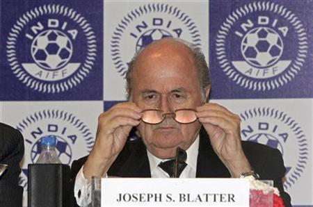 FIFA President Sepp Blatter attends a news conference in New Delhi March 9, 2012. REUTERS/B Mathur/Files