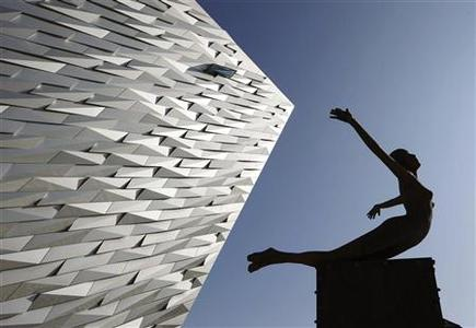 An exterior view shows The Titanic Belfast building in Belfast, Northern Ireland March 27, 2012.  REUTERS/David Moir