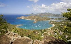 A panoramic island view from Shirley's Heights, Antigua, is seen in this undated handout photo supplied by the Antigua & Barbuda Tourism Authority on March 29, 2012. REUTERS/Antigua & Barbuda Tourism Authority/Handout