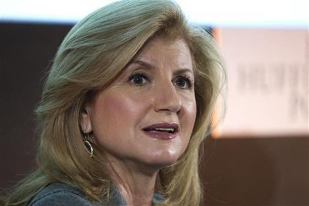 Arianna Huffington, president and Editor-in-Chief of The Huffington Post Media Group, attend a news conference for the launching of ''Le Huffington Post'' in Paris January 23, 2012. REUTERS/Charles Platiau