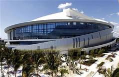 Marlins Park, the new home of the Miami Marlins MLB baseball team is shown during a tour in Miami, Florida, March 28, 2012. The Marlins will open their season on April 4 against the St. Louis Cardinals. REUTERS/Joe Skipper