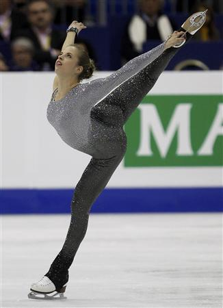 Carolina Kostner of Italy performs during the women's free skating event at the ISU World Figure Skating Championships in Nice March 31, 2012. REUTERS/Eric Gaillard
