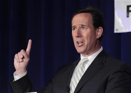 File photo of Republican presidential candidate and former U.S. Senator Rick Santorum. REUTERS/Darren Hauck