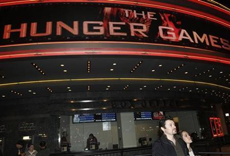 The Regal Cinemas is seen during the opening night of ''The Hunger Games'' in Los Angeles, California March 22, 2012. REUTERS/Jonathan Alcorn
