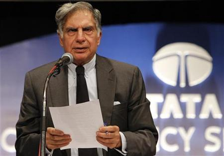 Ratan Tata, chairman of the Tata Group, speaks during the annual general meeting of Tata Consultancy Services in Mumbai July 1, 2011. REUTERS/Vivek Prakash