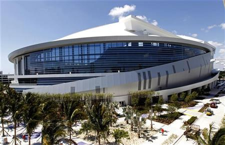 Marlins Park, the new home of the Miami Marlins MLB baseball team is shown during a tour in Miami, Florida, March 28, 2012. REUTERS/Joe Skipper