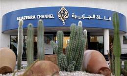 <p>Les studios d'Al Djazira à Doha. Le groupe qatari part à la conquête de la télévision payante en Europe en utilisant la France comme tête de pont pour le lancement de chaînes de sport ciblant pour la première fois des marchés locaux, avant de viser une expansion ailleurs en Europe. /Photo d'archives/REUTERS/Caren Firouz</p>