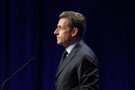 France's President and UMP party candidate for the 2012 French presidential elections Nicolas Sarkozy delivers a speech at a campaign rally in Nancy April 2, 2012. REUTERS/Benoit Tessier