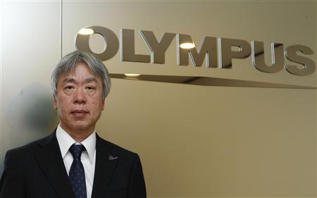 Hiroyuki Sasa, nominated to become Japan's Olympus Corp's president, speaks during an interview with Reuters in Tokyo April 3, 2012. REUTERS/Yuriko Nakao
