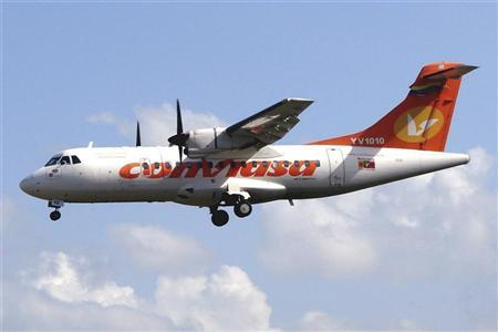An ATR-42 plane is seen in this undated file picture. REUTERS/Conviasa/Handout