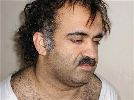 Khalid Sheikh Mohammed is shown in this file photograph during his arrest on March 1, 2003. REUTERS/Courtesy U.S.News & World Report/Files