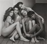 "(L-R) Models Stephanie Seymour, Cindy Crawford, Christy Turlington, Tatjana Patitz and Naomi Campbell in Hollywood, 1989, are pictured in a photograph by photographer Herb Ritts. The image is part of a a new exhibit ""Herb Ritts: L.A. Style"" currently on display at the Getty Center, which features renowned photographs by the artist, including vintage prints, magazine covers, commercials and music videos, with approximately 20% of the photos on display for the first time. REUTERS/© Herb Ritts Foundation/The J. Paul Getty Museum, Los Angeles, Gift of Herb Ritts Foundation/Handout"