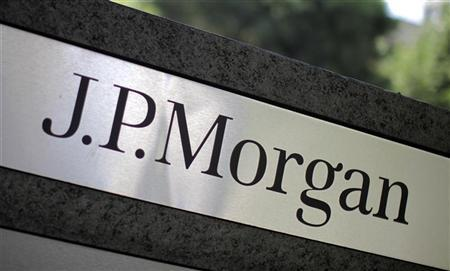 A sign is seen outside the JPMorgan office in Los Angeles, California, October 12, 2010. REUTERS/Lucy Nicholson (