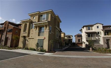 Newly built show homes wait for buyers at a housing development in San Marcos, California February 29, 2012. REUTERS/ Mike Blake