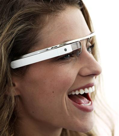 A prototype for ''Google Glasses'' are shown in this publicity photo released to Reuters on April 4, 2012. The Internet search giant on Wednesday took the wraps off a project to create digital ''augmented reality'' glasses designed to take photos, display directions and let the wearer have video-chats with friends, among other things. REUTERS/Google/Handout