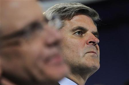 Revolution CEO Steve Case, who is also the founder of AOL, attends a meeting of U.S. President Barack Obama's Council on Jobs and Competitiveness at the International Brotherhood Of Electrical Workers Local Union #5 Training Center in Pittsburgh, Pennsylvania October 11, 2011. REUTERS/Jonathan Ernst