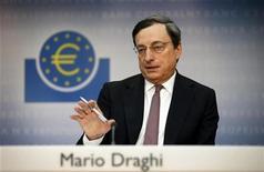 Il presidente della Bce Mario Draghi.  REUTERS/Kai Pfaffenbach