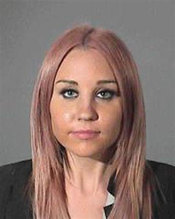 Actress Amanda Bynes is shown in this booking photo supplied by the Los Angeles Country Sheriff's Department April 6, 2012. Bynes was arrested early Friday morning in West Hollywood on suspicion of drunk driving after her car struck a sheriff's vehicle, according to police spokesman. REUTERS/Los Angeles County Sheriff's Department/Handout