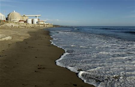 The San Onofre Nuclear Generating plant is seen on the shore of the Pacific Ocean in North San Diego County, California March 14, 2011. REUTERS/Mike Blake