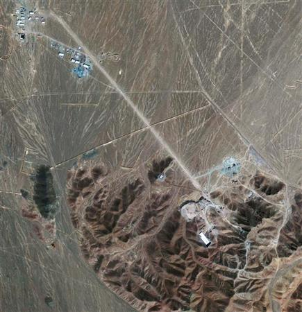Iran's newly disclosed nuclear fuel facility near Qom, Iran, is pictured in this GeoEye satellite photograph released September 27, 2009. U.S. Defense Secretary Robert Gates said on Sunday that diplomacy and sanctions rather than military action are the way to persuade Iran to change its nuclear program as divisions emerge in the Iranian leadership. REUTERS/GeoEye/IHS Janes Analysis