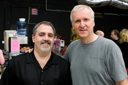 Jon Landau (L) is seen with James Cameron in this handout picture. REUTERS