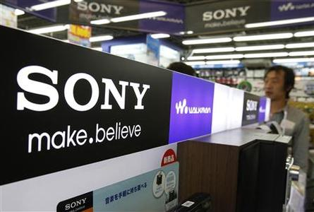 A logo of Sony Corp is pictured at an electronic store in Tokyo April 9, 2012. Japan's Sony is to cut 10,000 jobs, about 6 percent of its workforce, the Nikkei newspaper reported on Monday, as new CEO Kazuo Hirai looks to steer the electronics and entertainment giant back to profit after four years in the red. REUTERS/Yuriko Nakao