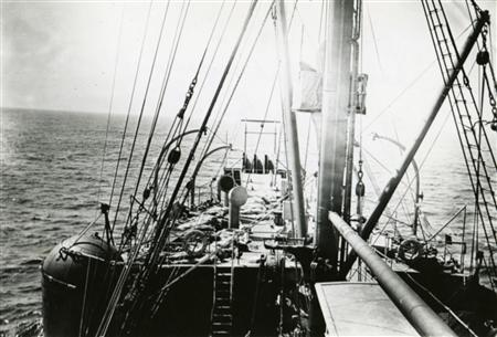 Titanic dead are prepared for burial on the deck of the MacKay-Bennett off the Canadian coast in 1912. REUTERS/Courtesy of Dalhousie University Archives and Special Collections, Halifax, N.S. Thomas Head Raddall Fonds/Handout