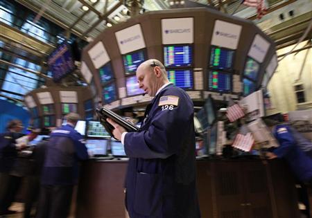 Traders work on the floor of the New York Stock Exchange, April 9, 2012. REUTERS/Brendan McDermid