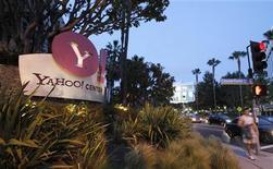 """<p>Yahoo sera réorganisé en trois grandes divisions -""""consommateur"""", """"régions"""" et """"technologies""""- à partir du 1er mai. /Photo d'archives/REUTERS/Mario Anzuoni</p>"""