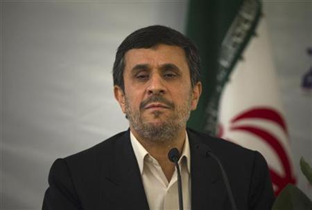Iranian President Mahmoud Ahmadinejad looks on as he attends the 25th International Islamic Unity Conference in Tehran February 8, 2012. REUTERS/Morteza Nikoubazl