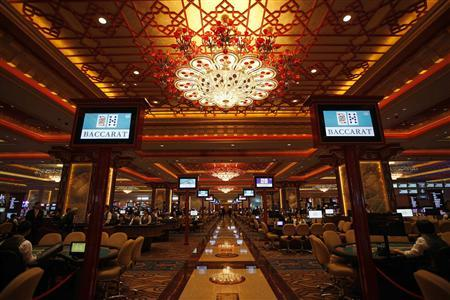 A view of the casino inside the Sands Cotai Central, Sands' newest integrated resort in Macau April 11, 2012. REUTERS/Tyrone Siu