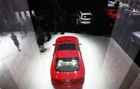 The Audi RS 5 automobile is seen at the 2012 International Auto Show in New York, April 4, 2012. REUTERS/Shannon Stapleton