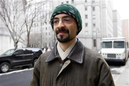 Sergey Aleynikov departs from federal court in New York February 17, 2010. REUTERS/Chip East