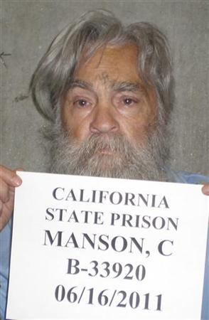 Convicted mass murderer Charles Manson is shown in this handout picture from the California Department of Corrections and Rehabilitation dated June 16, 2011 and released to Reuters April 8, 2012. Manson, one of America's most notorious convicts, was denied parole on April 11, 2012, in his 12th and possibly final bid for release from a California prison, state corrections officials said. REUTERS/CDCR/Handout