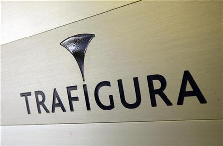 Trafigura logo is pictured in the company entrance in Geneva March 11, 2012. REUTERS/Denis Balibouse /Files