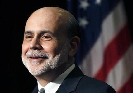 Federal Reserve Chairman Ben Bernanke addresses a group of economists and finance experts at a conference in Stone Mountain, Georgia April 9, 2012. REUTERS/Tami Chappell
