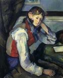 """Imagem divulgada pela polícia mostra obra """"O Menino de Colete Vermelho"""", do pintor Paul Cézanne, em Zurique, em fevereiro de 2008. A polícia da Sérvia acredita ter recuperado uma obra do pintor impressionista avaliada em pelo menos 109 milhões de dólares, que foi roubada em um dos maiores assaltos de obras de arte do mundo, quatro anos atrás. 11/02/2008 REUTERS/Divulgação"""