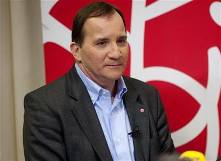 Stefan Lofven attends a news conference in Stockholm January 26, 2012. REUTERS/Jens L'estrade/Scanpix