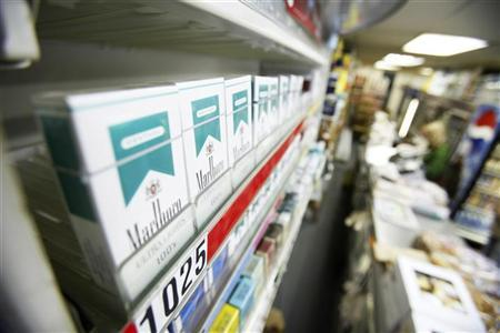 Menthol flavored cigarettes are displayed in a store in New York March 30, 2010. REUTERS/Lucas Jackson