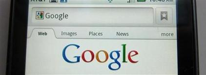 <p>Google a fait état jeudi d'un bénéfice net de 2,89 milliards de dollars ou 8,75 dollars par action (GAAP) au premier trimestre et annoncé une division de ses actions à raison de deux pour une. /Photo d'archives/REUTERS/Brendan McDermid</p>