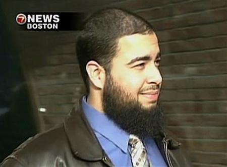 Tarek Mehanna, of Sudbury, Massachusetts, is seen in this image from a video footage taken in Boston, Massachusetts, on February 11, 2009, released to Reuters on October 21, 2009. REUTERS/WHDH-TV/Handout
