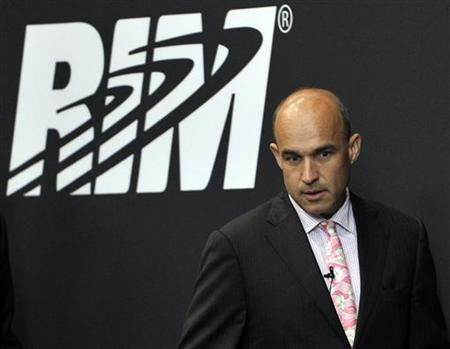 Research In Motion (RIM) Co-Chief Executive Officer Jim Balsillie arrives at the annual general meeting of shareholders in Waterloo July 12, 2011. REUTERS/ Mike Cassese