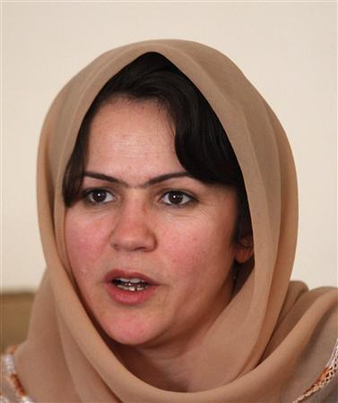 Fawzia Koofi speaks during an interview in Kabul April 12, 2012. REUTERS/Mohammad Ismail