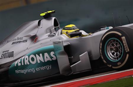 Mercedes Formula One driver Nico Rosberg of Germany drives during the qualifying session of the Chinese F1 Grand Prix at Shanghai International circuit April 14, 2012. REUTERS/Petar Kujundzic