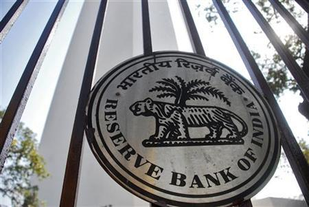 The Reserve Bank of India (RBI) logo is pictured outside its head office in Mumbai January 25, 2011. REUTERS/Stringer/Files