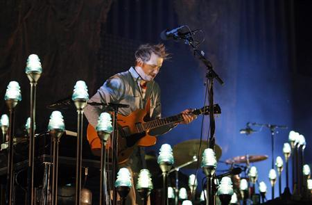 Band founder Justin Vernon performs with Bon Iver at the 2012 Coachella Valley Music and Arts Festival in Indio, California April 14, 2012. REUTERS/David McNew